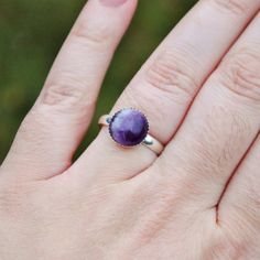 Ring A Day Challenge 2015 Day 8: Crescent Moon Banded Amethyst Adjustable Ring by SoloArtworks. See the entire project at https://www.facebook.com/media/set/?set=a.750193175076911.1073741853.231724523590448&type=3