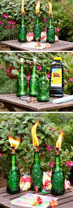 DIY Tiki Torches | Click Pic for 24 DIY Garden Lighting Ideas | DIY Outdoor Lighting Ideas