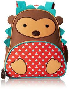 Skip Hop Zoo Pack Little Kid Backpack school preschool daycare Brown Hedgehog #SkipHopZoo US$ 29.39