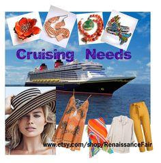 """Cruising Needs"" by renaissance-fair ❤ liked on Polyvore featuring Disney, Kiss The Sky and Lauren Ralph Lauren"