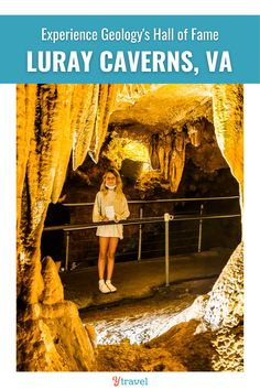 """National Geographic has said the draperies found at Luray at some of the """"best in the world""""! If you're planning a Virgina road trip this fall, be sure to stop in and experience Geology's Hall of Fame, Luray Caverns! #LurayCaverns #VirginiaTourism #FamilyRoadTrip #USRoadTrips #FamilyTravel"""