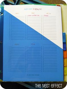 Home Management Binder: Finances and Shopping Categories