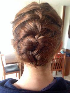 French braid for short hair.