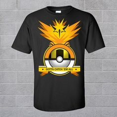 24af3a457 Pokemon Go Team Valor Mystic Instinct Pokeball Mens Womens Summer Top T-shirts  Pokemon Go