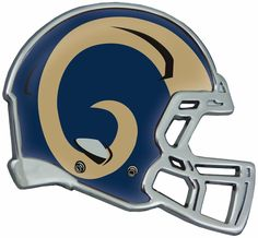 St. Louis Rams Helmet Auto Emblem