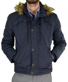 d519f4da73b0 Ανδρικό μπουφάν Jacket Inox μπλε κοντό 16535G  χειμωνιατικαμπουφαναντρικα   εκπτωσεις  προσφορες  menjacket Raincoat