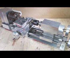 Homemade Wood Metal Mini Lathe DIY XY Axis Slide CNC Aluminium Alloy