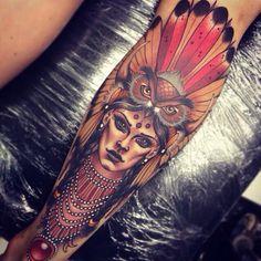 Owl mask on indian girl