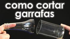 Como cortar garrafas de vidro usando barbante (experiência + artesanato)