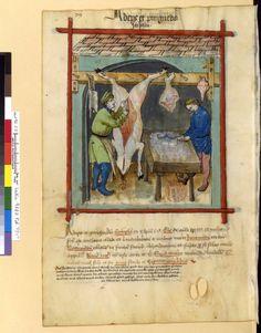 Tacuinum Sanitatis - BNF Ms. Latin 9333 Date: Rhineland, mid- 15th century.  79v Schmalz