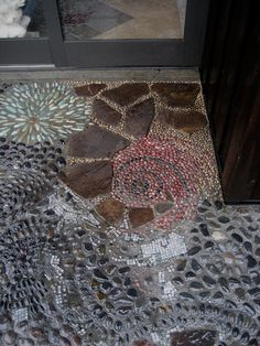 Pebble Mosaic Entrance