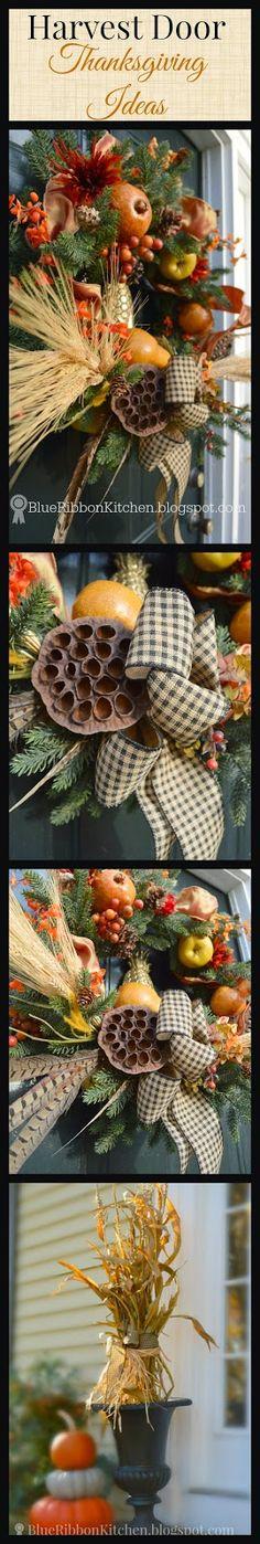Blue Ribbon Kitchen: Creating a Harvest | Thanksgiving | Autumn Front Door