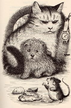 Garth  Williams cat dog mouse illustration