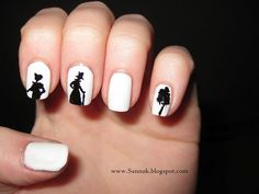 Pride and Prejudice nail design