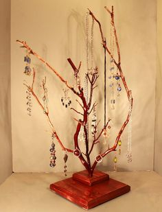 Jewelry Tree  Twin Branch HalfNaked Manzanita  by RedBarkDesigns, $37.00