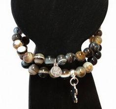 Agates & silver pendants