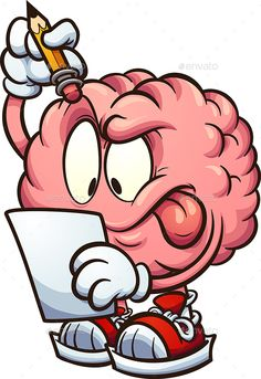 Buy Thinking Brain by memoangeles on GraphicRiver. Cartoon brain looking at a piece of paper and thinking clip art. Vector illustration with simple gradients. Dope Cartoons, Dope Cartoon Art, Cartoon Drawings, Cool Drawings, Cartoon Brain Drawing, Best Drawing For Kids, Brain Vector, Stickers Cool, Skull Art