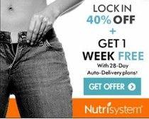 Nutrisystem Diet for Men and Women Lock In 40% Off + Get 1 Free Week! #nutrisystem #weightloss #diet #dietfood