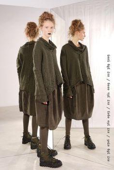 rundholz black label - Kleid Samt Cotton Stretch green - Winter 2018