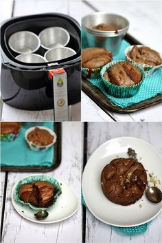 Philips Airfryer Whole Wheat Choc Lava Cake