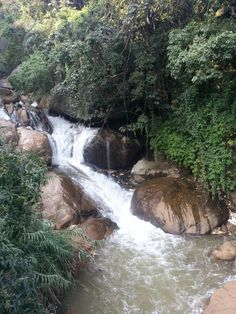 Waterfall in the South India mountains