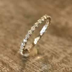 Petite Diamond Eternity Band Ring in 14k White by LaMoreDesign