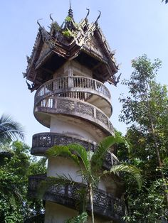 Sangkhlaburi Temple with spiral staircase, Thailand