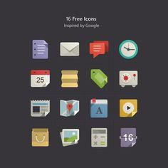 UIデザインの参考に 30のフラットデザインアイコンセット | matome