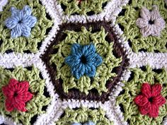 ༺༺༺♥Elles♥Heart♥Loves♥༺༺༺ .........♥Crochet Hexagons♥......... #Crochet #Chart #Hexagon #Geometric #Design #Motif #Octagon #Pattern #Tutorial ~ ♥Ravelry: Berberis pattern by Elizabeth Lowe