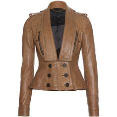 mytheresa.com - Burberry Prorsum - VESTE EN CUIR CINTRÉE - Luxe et Mode pour femme - Vêtements, chaussures et sacs de créateurs internationaux
