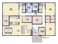 Floor Plants, Japanese House, House Floor Plans, Flooring, How To Plan, Architecture, Interiors, Space, Kitchen