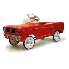 1965 Ford Mustang Red Pedal Car by Warehouse 36      1965 Ford Mustang - This is one of the fastest selling pedal cars we have ever had in our store! Available in Red or Blue
