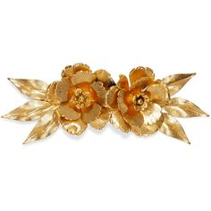 Jennifer Behr Rowena gold-plated hair slide (2.246.145 IDR) ❤ liked on Polyvore featuring accessories, hair accessories, gold, leaf hair accessories, rose hair accessories, jennifer behr hair accessories and jennifer behr