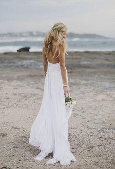 Beautiful beach wedding dress....