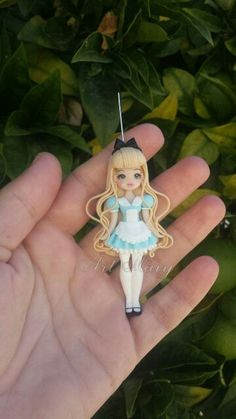 Necklace alice in fimo, polymer clay