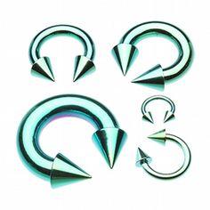 Colorline PVD Basic Spike Top Horseshoe Circular Barbell 18g 16g 14g