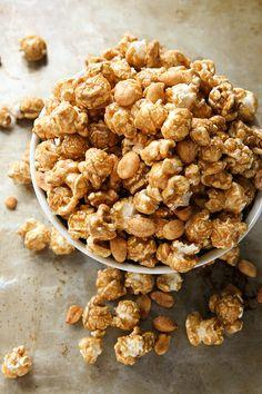 Recipe: Bourbon Caramel Corn with Honey Roasted Peanuts