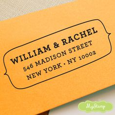 CUSTOM ADDRESS STAMP, personalized pre inked address stamp, pre inked custom address stamp, return address stamp with proof - Stamp b5-8. $23.95, via Etsy.