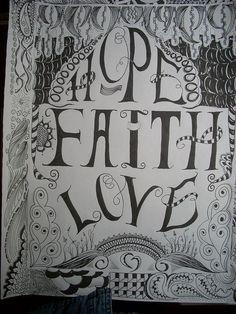 Hope Faith and Love