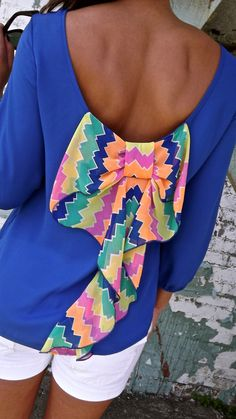 Colorful shirt. Love this.