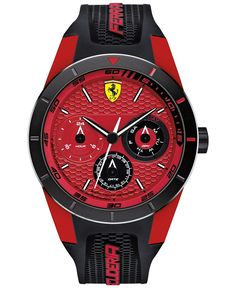 Scuderia Ferrari Men's RedRev T Black Silicone Strap Watch 44mm 830255 - Men's Watches - Jewelry & Watches - Macy's