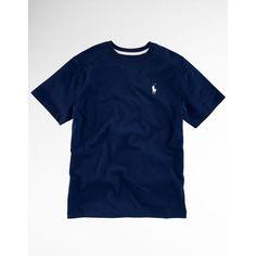 Polo Active Guys 8-20 Short-Sleeved T-Shirt ($15) ❤ liked on Polyvore featuring tops, t-shirts, shirts, kids, polo, blue shirt, ribbed t shirt, crewneck shirts, blue t shirt and short sleeve crew neck t shirt