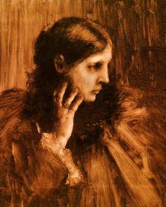 Reverie: A Portrait of a Woman : William Merritt Chase : Art Scans Painter, Artist, Pre Raphaelite, Painting, American Impressionism, Painting Reproductions, Impressionist, Outdoor Art, Portrait