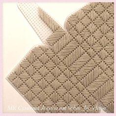 Plastic Canvas Stitches, Plastic Canvas Crafts, Plastic Canvas Patterns, Crochet Clutch, Crochet Handbags, Cross Stitch Patterns, Canvas Handbags, Crochet Diagram, Pom Poms
