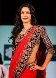 Katrina Kaif In Traditional Designer Saree