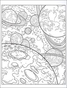 detailed space Coloring Pages | Coloring Space Page by usedfreak88 | Ultimate Coloring | Space ...