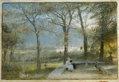 Les jardins, Pallanza de Albert Goodwin (1845-1932, United Kingdom)