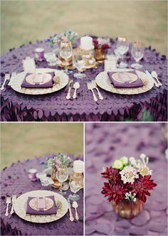 I love the ruffle texture of this table cloth. With this being a statement piece, simplistic decorations are all that is needed. This makes a cute and quirky setting for either indoor or outdoor events.