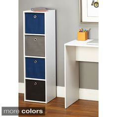 Shop for Simple Living 'Jolie' 4-slot Fabric Bin Bookcase. Get free delivery at Overstock.com - Your Online Furniture Outlet Store! Get 5% in rewards with Club O!