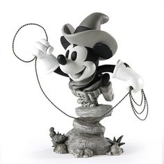 "YAA-HAR! Cowboy Mickey's got his lasso and ready to rope himself some steers...or maybe just Cowgirl Minnie's heart! COWBOY MICKEY MOUSE ""GRAND JESTER"" DISNEY BUST"